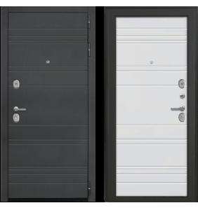 Дверь Металлическая Лига ФЛ 041 Дуб Антрацит /ФЛ 041 Белый Матовый