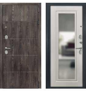 Дверь Металлическая Лига ФЛ 023 Шале Корица/ФЛЗ 144 Сосна белая