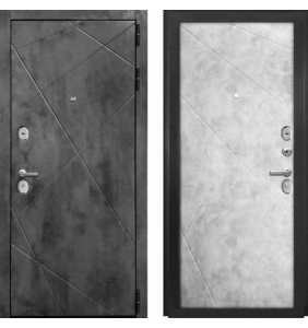 Дверь Металлическая Лига ФЛ 02 Бетон Темный/ФЛ 02 Бетон Лофт Натуральный