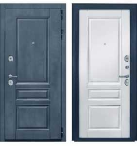 Дверь Металлическая Лига ФЛ 61 Лофт Графит/ФЛ 61 Белый матовый
