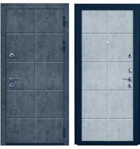 Дверь Металлическая Лига ФЛ 07 Бетон Графит/ФЛ 07 Бетон Снежный